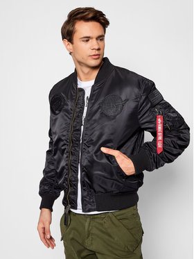Alpha Industries Alpha Industries Μπόμπερ μπουφάν MA-1 VF Nasa 166107 Μαύρο Regular Fit