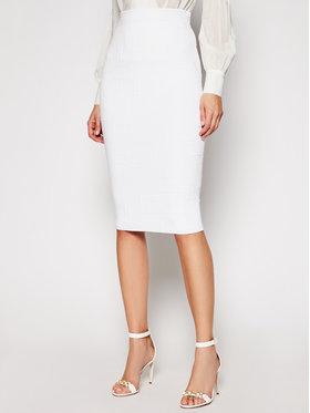 Elisabetta Franchi Elisabetta Franchi Pouzdrová sukně GK-32Q-11E2-V300 Bílá Slim Fit