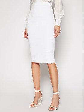 Elisabetta Franchi Elisabetta Franchi Spódnica ołówkowa GK-32Q-11E2-V300 Biały Slim Fit