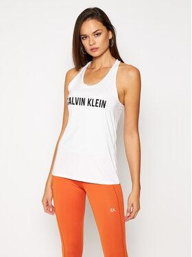 Calvin Klein Performance Calvin Klein Performance Топ 00GWF0K169 Бял Regular Fit