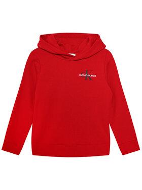 Calvin Klein Jeans Calvin Klein Jeans Bluza Unisex Small Monogram IU0IU00164 Czerwony Regular Fit