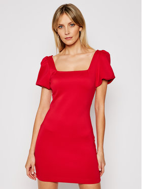 Guess Guess Abito da cocktail W1GK14 K3PP2 Rosso Slim Fit