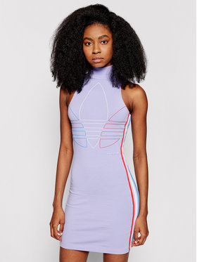 adidas adidas Sukienka codzienna adicolor Tricolor Tank GN2854 Fioletowy Slim Fit