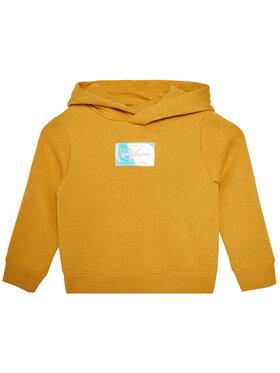 Calvin Klein Jeans Calvin Klein Jeans Bluza Monogram Badge IG0IG00690 Żółty Regular Fit