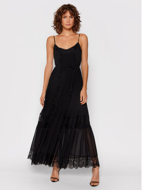 TWINSET TWINSET Hétköznapi ruha 212TT2391 Fekete Regular Fit