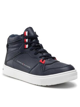 Tommy Hilfiger Tommy Hilfiger Sneakersy Higt Top Lace-Up Sneaker T3B4-32064-0193 S Granatowy