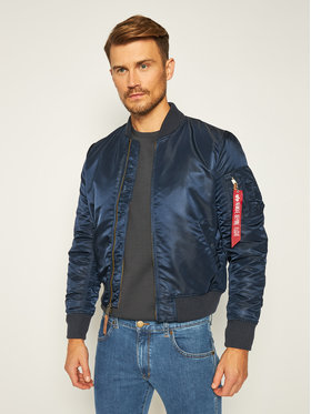Alpha Industries Alpha Industries Яке бомбър Ma-1 Vf 59 191118 Тъмносин Slim Fit