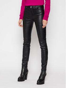 KARL LAGERFELD KARL LAGERFELD Pantalon en cuir Metallic 210W1103 Noir Skinny Fit