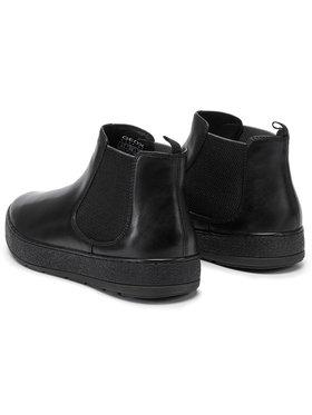Geox Geox Kotníková obuv s elastickým prvkem U Ariam B U845QB 00043 C9997 Černá