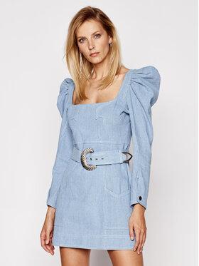 For Love & Lemons For Love & Lemons Džínové šaty Josephine CD2244 Modrá Slim Fit