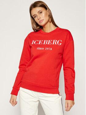 Iceberg Iceberg Bluza 19II2P0E0126330 Czerwony Regular Fit