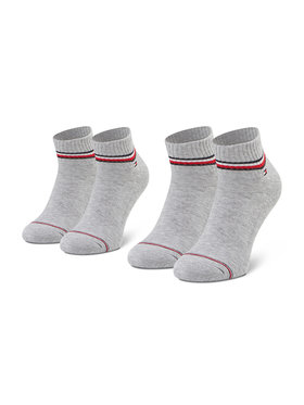 Tommy Hilfiger Tommy Hilfiger Комплект 2 чифта къси чорапи мъжки 100001094 Сив