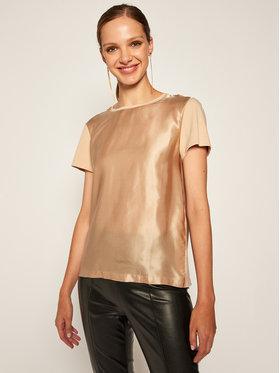 Marella Marella Marškinėliai Plata 39760107 Smėlio Regular Fit