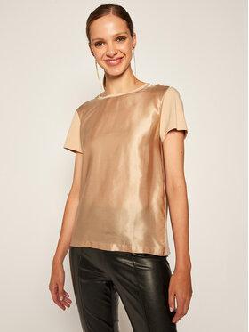 Marella Marella T-Shirt Plata 39760107 Béžová Regular Fit