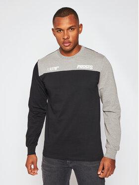 PROSTO. PROSTO. Marškinėliai ilgomis rankovėmis KLASYK Armcol 9167 Juoda Regular Fit