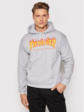 Thrasher Thrasher Bluză Flame Gri Regular Fit