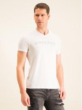Armani Exchange Armani Exchange T-shirt 3HZTBF ZJA5Z 1100 Bijela Slim Fit