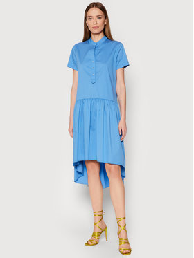 Rinascimento Rinascimento Kleid für den Alltag CFC0103381003 Blau Regular Fit