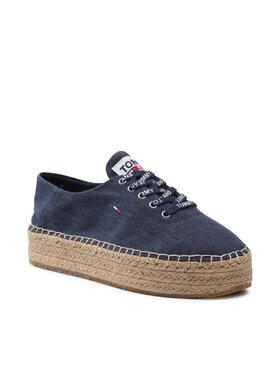 Tommy Jeans Tommy Jeans Espadryle Essential Flatform Espadrille EN0EN01434 Granatowy