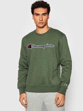 Champion Champion Μπλούζα Script Logo 216471 Πράσινο Comfort Fit