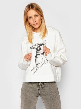 Trussardi Jeans Trussardi Jeans Džemperis Gardenia 56F00120 Balta Regular Fit