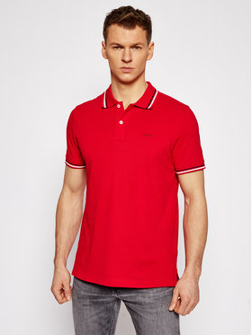 Geox Geox Polo Sustainable M1210A T2649 F7115 Czerwony Regular Fit