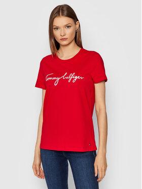 Tommy Hilfiger Tommy Hilfiger T-Shirt Crew Neck Graphic WW0WW28682 Rot Regular Fit