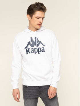 Kappa Kappa Felpa Taino 705322 Bianco Regular Fit