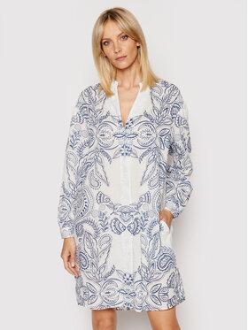 Marc O'Polo Marc O'Polo Sukienka koszulowa M04 1491 21195 Biały Relaxed Fit