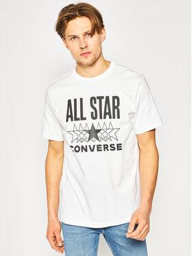 Converse Converse T-Shirt All Star Ss Tee 10018373-A01 Biały Regular Fit