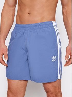 adidas adidas Plavecké šortky 3-Stripe GN3527 Modrá Regular Fit