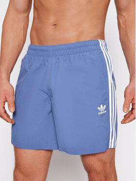 adidas adidas Szorty kąpielowe 3-Stripe GN3527 Niebieski Regular Fit