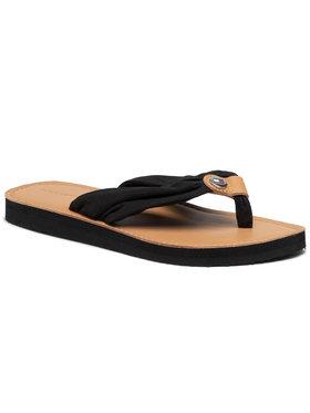 Tommy Hilfiger Tommy Hilfiger Japanke Leather Footbed Beach Sandal FW0FW05677 Crna