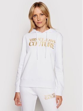 Versace Jeans Couture Versace Jeans Couture Pulóver B6HWA7TP Fehér Regular Fit