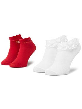 Mayoral Mayoral Vaikiškų ilgų kojinių komplektas (2 poros) 10738 Raudona
