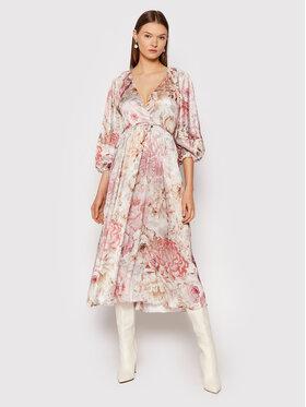 Rinascimento Rinascimento Sukienka koktajlowa CFC0104739003 Beżowy Regular Fit