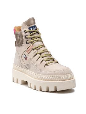 Tommy Jeans Tommy Jeans Botki Hybrid Boot EN0EN01596 Beżowy