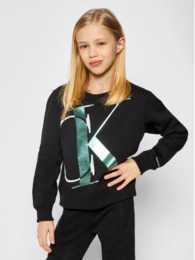 Calvin Klein Jeans Calvin Klein Jeans Pulóver Exploded Monogram Bxy IG0IG00685 Fekete Regular Fit