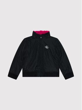 Calvin Klein Jeans Calvin Klein Jeans Kurtka zimowa Reversible Teddy IG0IG01023 Czarny Regular Fit