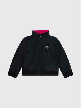 Calvin Klein Jeans Calvin Klein Jeans Télikabát Reversible Teddy IG0IG01023 Fekete Regular Fit