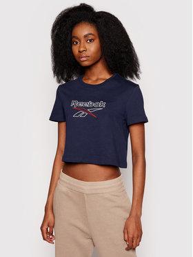 Reebok Reebok T-shirt Classics Foundation Big Logo GJ5766 Tamnoplava Regular Fit
