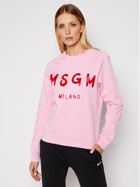 MSGM MSGM Felpa 3041MDM89 217299 Rosa Regular Fit