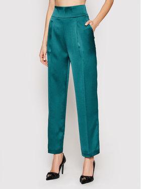 Pinko Pinko Текстилни панталони Sorriso PE21 PSPG 1N135C 8503 Зелен Straight Fit