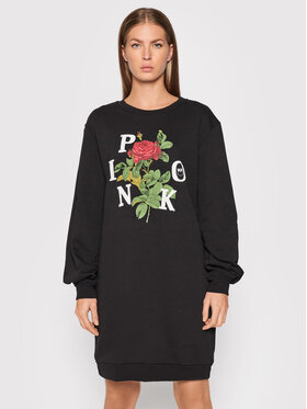 Pinko Pinko Rochie tricotată Toffia AI2122 BLK01 1G16UH Y54B Negru Regular Fit