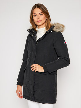 Tommy Jeans Tommy Jeans Parka Technical Down DW0DW09063 Crna Regular Fit