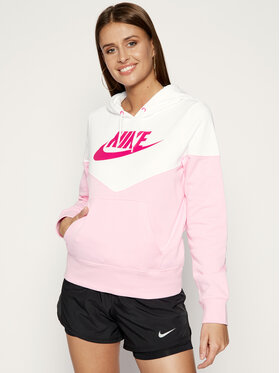 NIKE NIKE Džemperis Heritage Fleece Hoodie AR2509 Rožinė Regular Fit