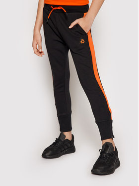 4F 4F Παντελόνι φόρμας JSPMD003 Μαύρο Slim Fit