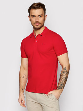 Geox Geox Polo Sustainable M1210C T2649 F7115 Czerwony Regular Fit
