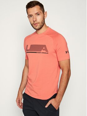Under Armour Under Armour T-shirt technique Unstoppable 1329271 Orange Regular Fit
