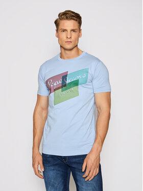 Pepe Jeans Pepe Jeans T-shirt Morrison PM507291 Plava Slim Fit